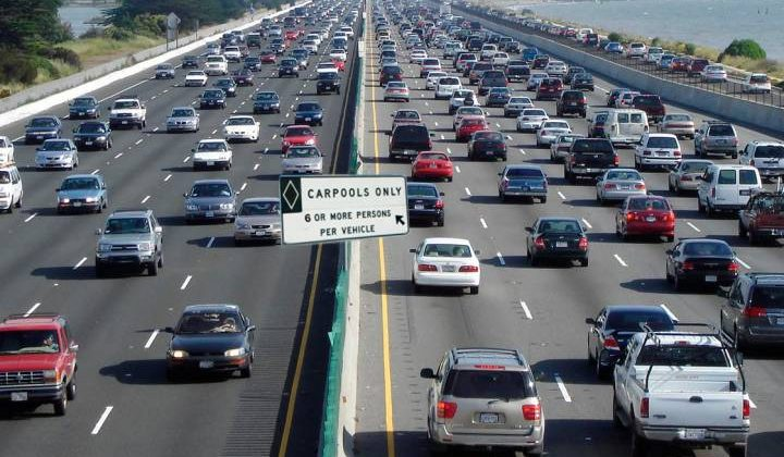 A quarter million California drivers will lose access to carpool lanes on January 1st