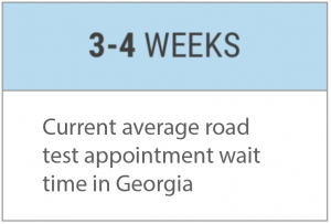 Georgia Road Test Appointment Wait Times